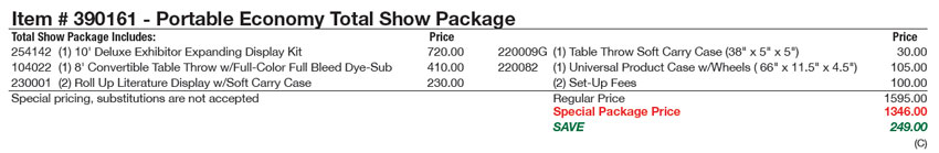 total-show-package-portable-economy-price